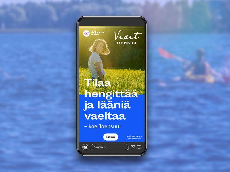 Hurry Visit Joensuu Joensuun kaupunki digimarkkinointi